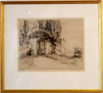 Antique etching