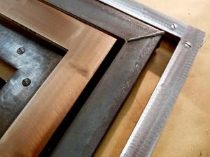 Steel frame corners