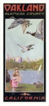Retro art print featuring the Lake Merritt geese