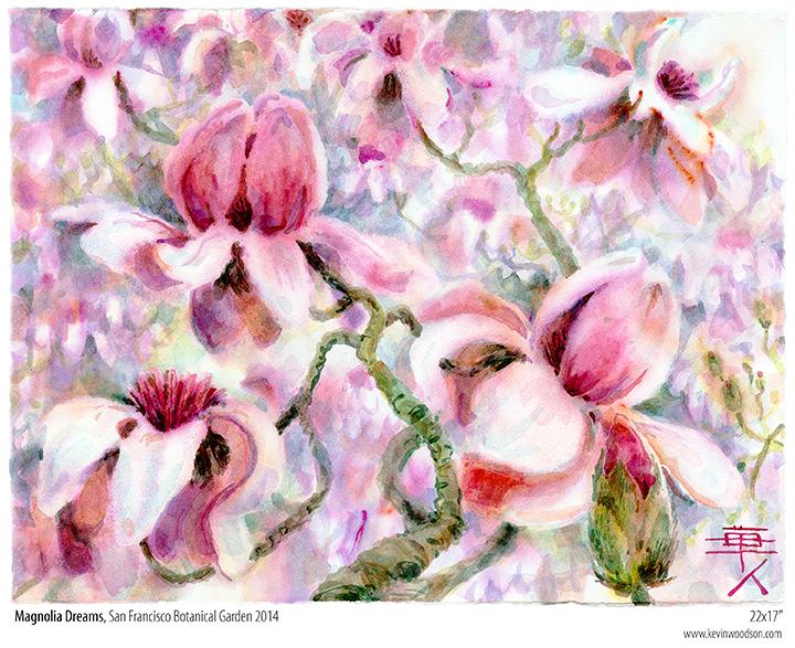 Magnolias Painting